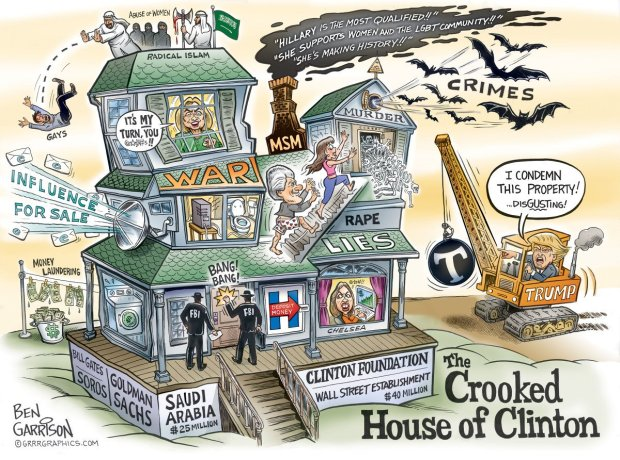 Hillary's Crooked House
