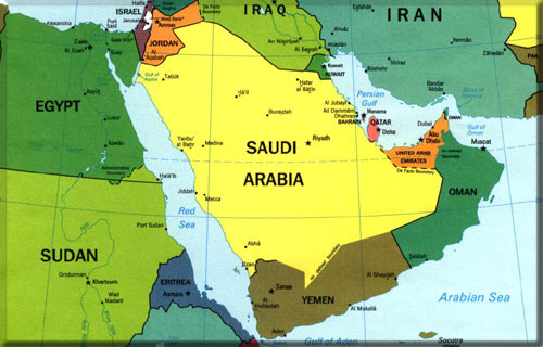 Saudi _ Yemen Map