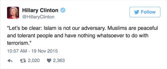Hillary on Islam